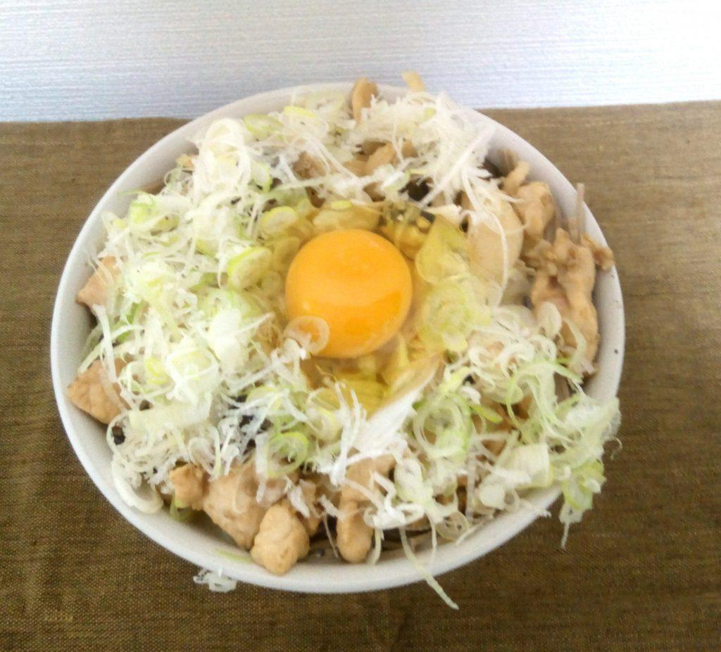 鶏胸肉とエリンギの蕎麦
