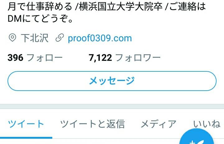 Twitterの大きいDMボタン