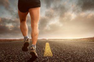 a running man