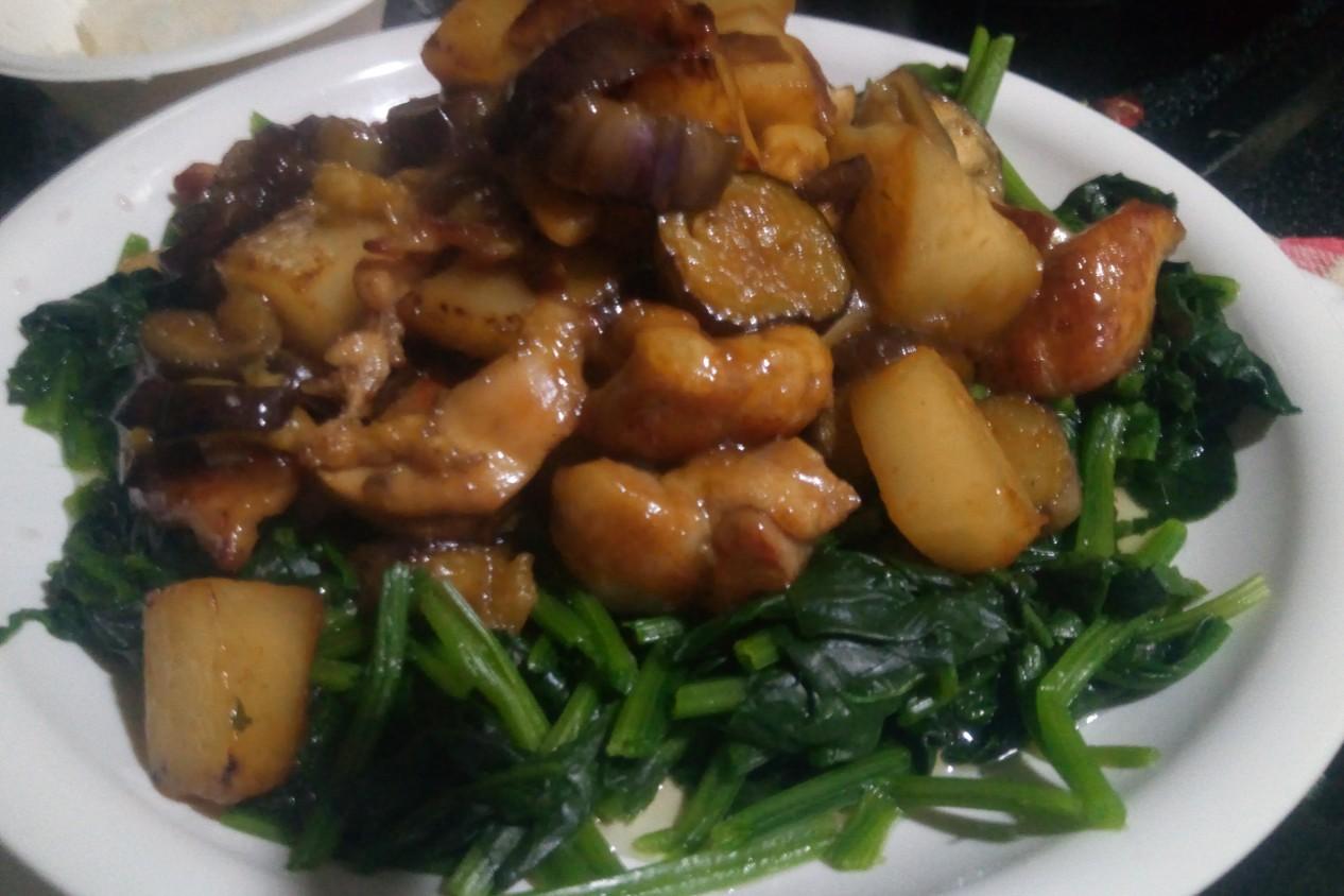 鶏胸肉とう野菜のみぞれ煮