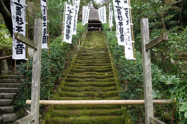 杉本寺の苔の階段
