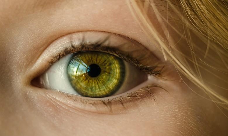 見つめる女性の目
