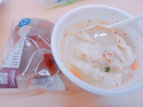 ローソンの餃子スープ