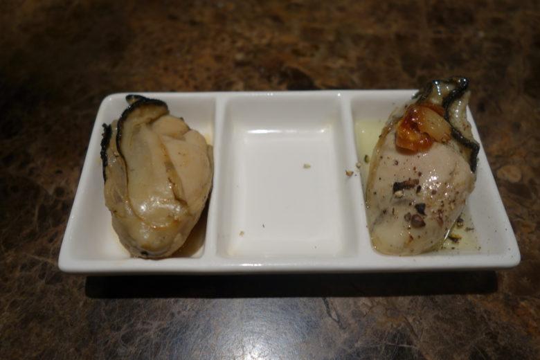 牡蠣のオイル漬けと牡蠣の佃煮
