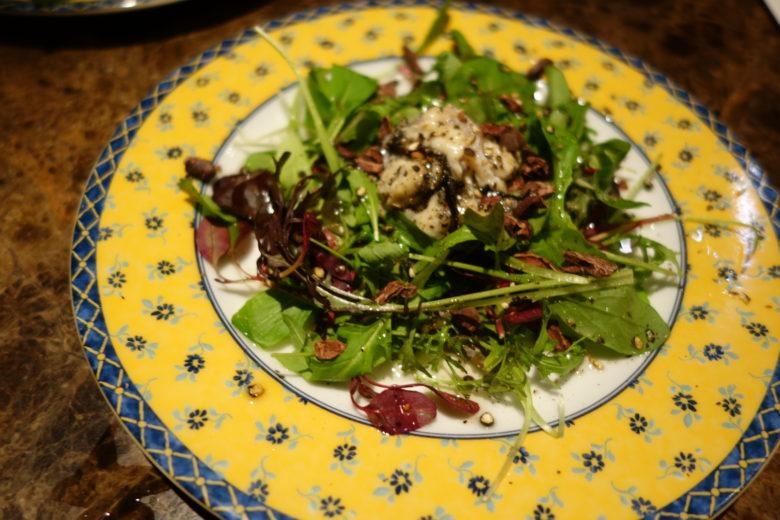 生牡蠣のサラダ
