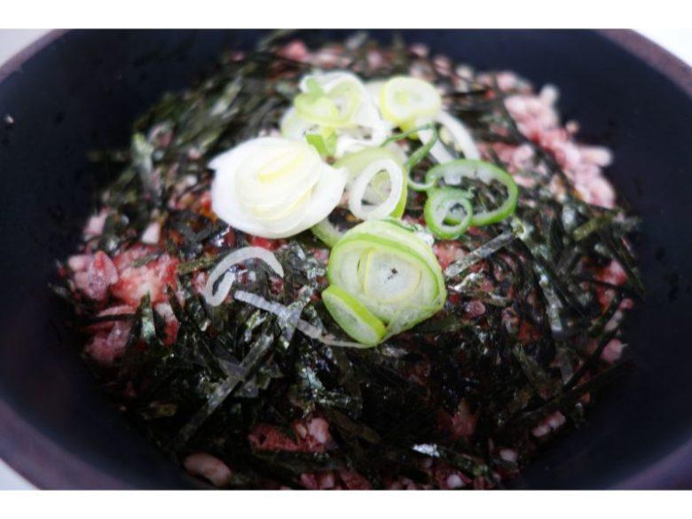 北海道大学の学食の牛とろ丼