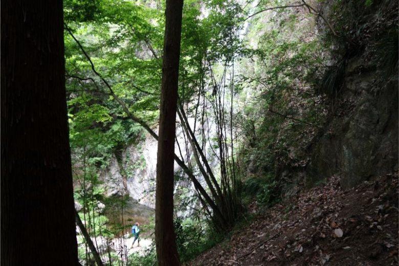 天狗滝へと続く階段