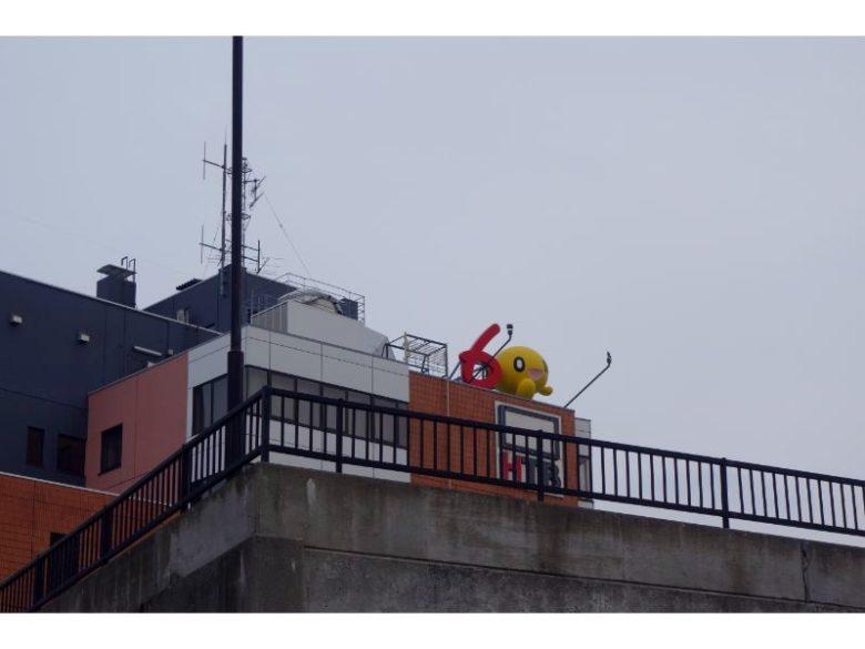 HTB旧社屋のONちゃん像