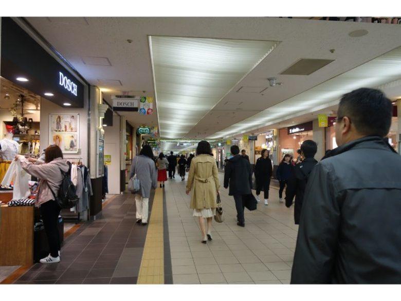 札幌の地下街。めちゃくちゃ広い。